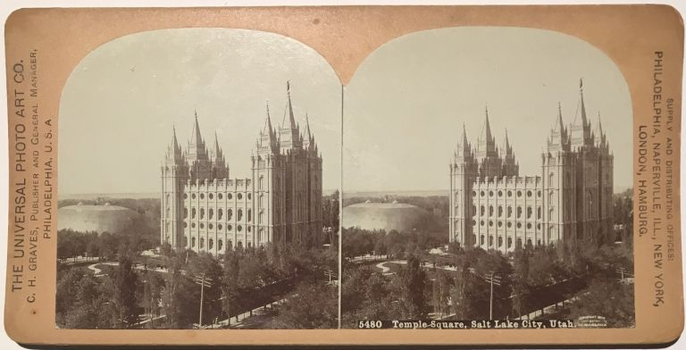 5480 Temple Square, Salt Lake City, Utah. C. H. Graves.