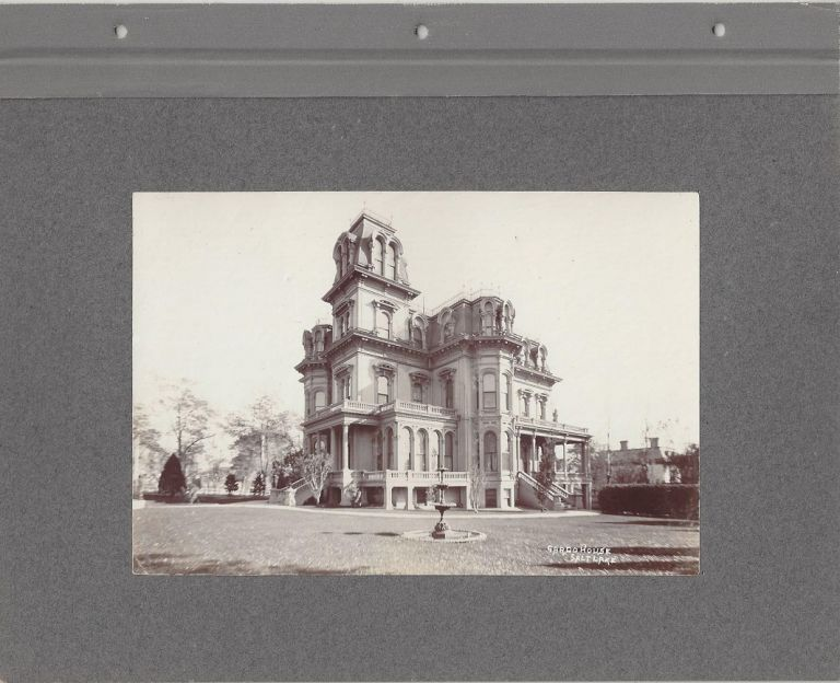 Gardo House, Salt Lake [BACKED WITH] Brigham Young's Grave / Brigham Young's Schoolhouse. Charles Roscoe Savage.