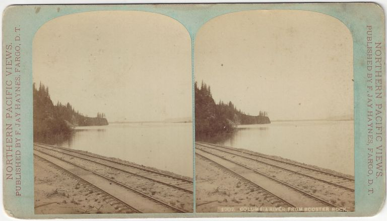 1707. Columbia River from Rooster Rock. F. Jay Haynes.