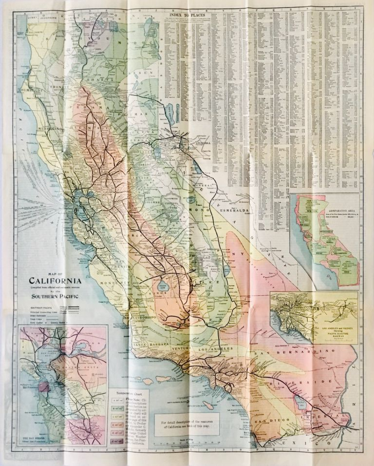 Map of California. Compiled from official and authentic sources by the Southern Pacific. Southern Pacific Railroad.