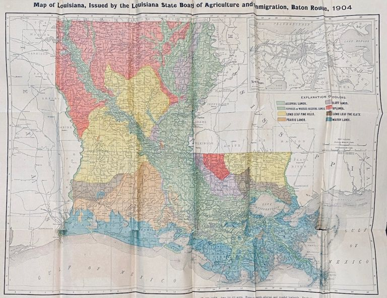 Map of Louisiana. J. G. Lee.