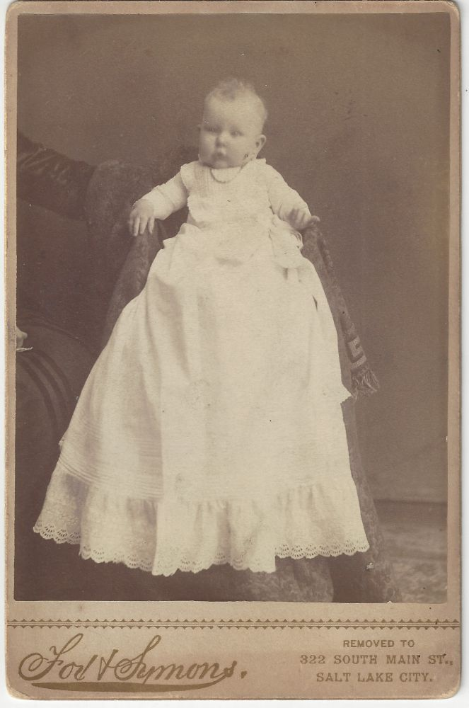 Unidentified baby. Alexander Fox, Charles William Symons.