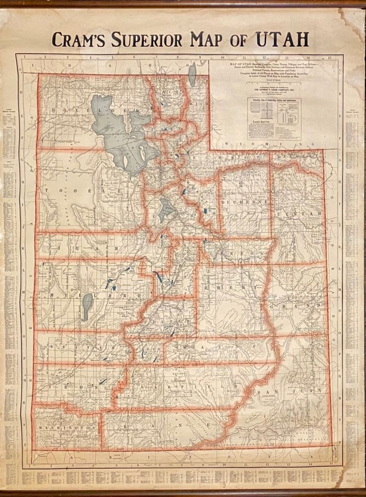 Cram's Superior Map of Utah. George F. Cram.