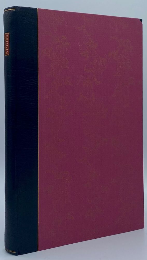 Louis Herman Kinder and Fine Bookbinding in America: A Chapter in the History of the Roycroft Shop. Richard J. Wolfe, Paul McKenna.