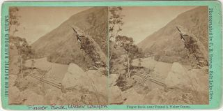 Finger Rock, near Tunnel 3, Weber Canon. Charles Roscoe Savage