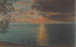 Flathead Lake at Sunset]. Tomar Jacob? Hileman