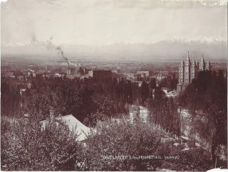 Salt Lake City from Prospect Hill. Charles Roscoe Savage.