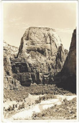 Great White Throne - Zion Nat'l Park [Real Photo Postcard]. Utah Parks Company