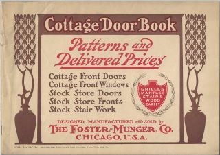 Cottage Door Book: Patterns and Delivered Prices. The Foster - Munger Company
