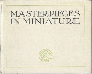 Masterpieces in Miniature. Berkey, Gay