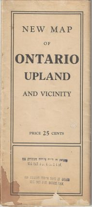 New Map of Ontario, Upland and Vicinity. George Coupland Thomas