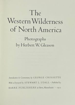 The Western Wilderness of North America. Herbert W. Gleason