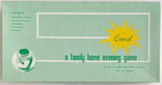 Quest...a family home evening game. Richard L. Crawford