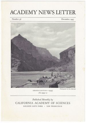Academy News Letter. California Academy of Sciences, Colorado River