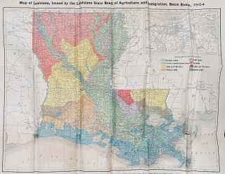Map of Louisiana. J. G. Lee