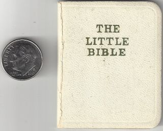 The Little Bible. With Selections from Every Book of the Bible. Miniature Book