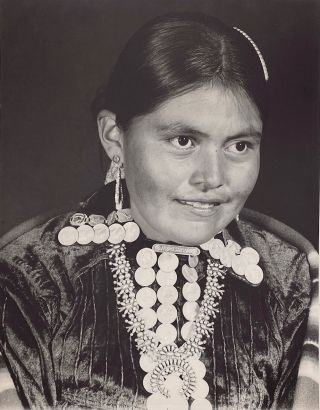 Navajo Girl with Necklace. Joseph Howard McGibbeny