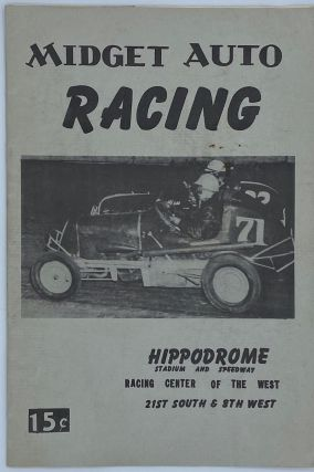 Midget Auto Racing Program. Salt Lake City, Auto Racing