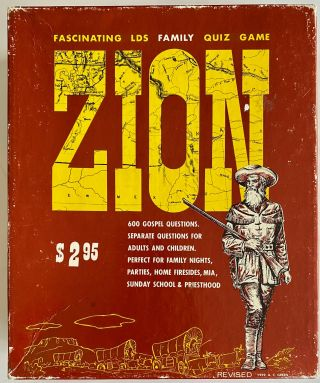 Zion: The Fascinating New L.D.S. Family Quiz Game [Small Version]. Paul R. Green, Ann C. Green