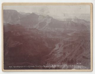 Grand Canyon of the Colorado. View from Bissels Point. George Wharton James