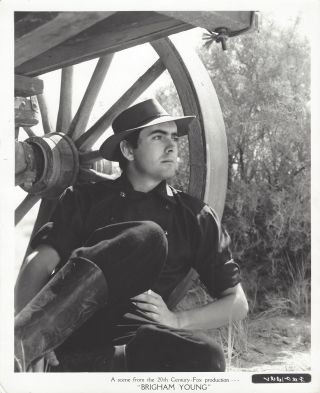 A scene from the 20th Century Fox production Brigham Young. Tyrone Power