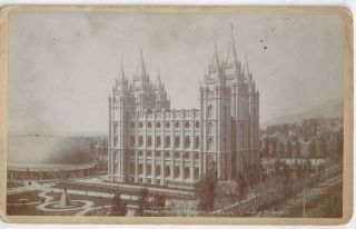 Mormon Temple and Tabernacle, Salt Lake City. Charles Ellis Johnson