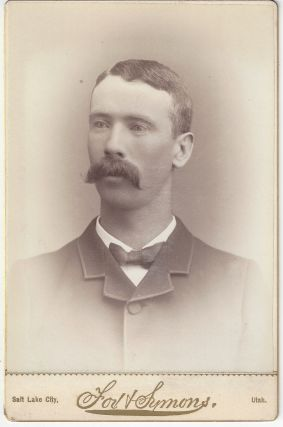 Unidentified man with a mustache. Alexander Fox, Charles William Symons