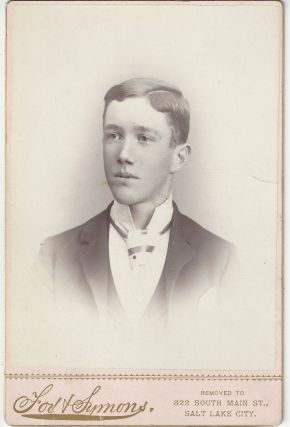 Unidentified young man. Alexander Fox, Charles William Symons