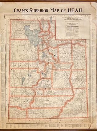 Cram's Superior Map of Utah. George F. Cram